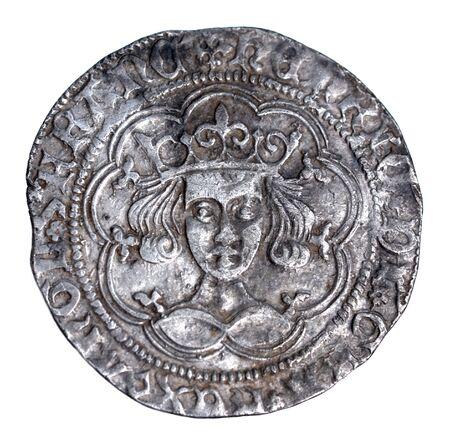 monete antiche: Enrico VI groat, rosette-Mascle problema, Calais menta, 1430-1431 dritto in condizioni molto fine Archivio Fotografico