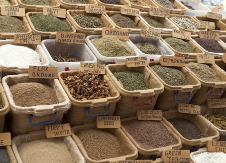 herbs and spices on Turkish Market photo