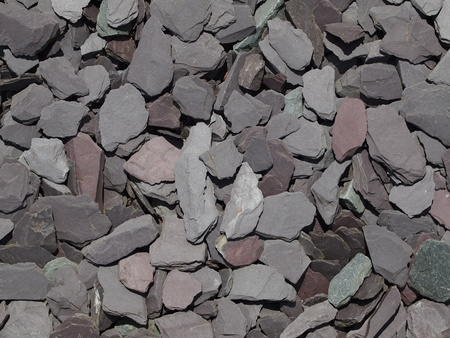 mulch: plum blue green grey slate chippings, decorative  garden aggregate