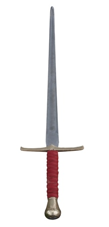 medieval long or great sword isolated on white