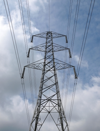 electricity pylon and wires forming part of the national grid Stock Photo - 15030252