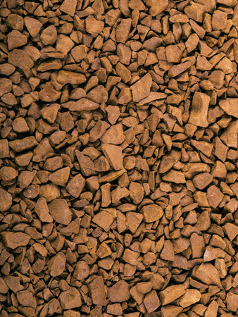 freeze dried: macro of freeze dried instant coffee granules
