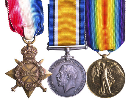 WWI campaign medal known as Pip Sqeak and Wilfred - 1914-1915 Star, The British War Medal and the Allied Victory Medal