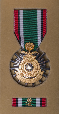 Kuwait Liberation Medal issued to all service personel who participated in Operation Desert Storm Editorial