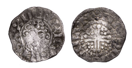 hammered: hammered silver penny of Henry III found with metal detector