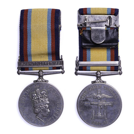 liberation: british gulf medal issued for service during operation granby the liberation of Kuwait