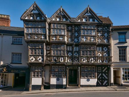 Federn Hotel in Ludlow Südshropshire ein Wahrzeichen historischen Gebäude Lizenzfreie Bilder