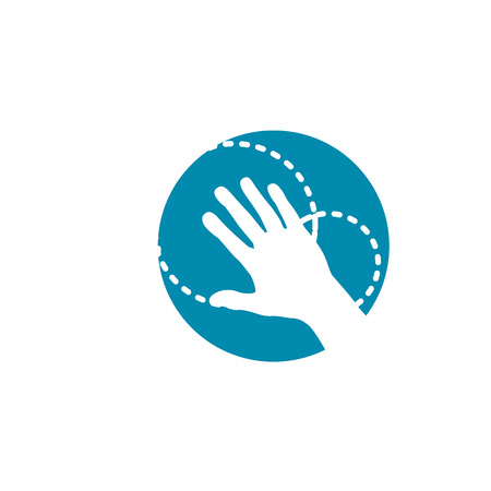 Orthopedics Bone Sports Injury Icon for Hand & Wrist Illustration