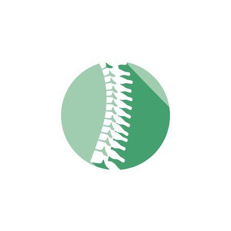 Ruggegraat orthopedisch pictogram met cirkelpictogram