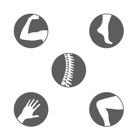 Set of orthopedics icons. Illustration