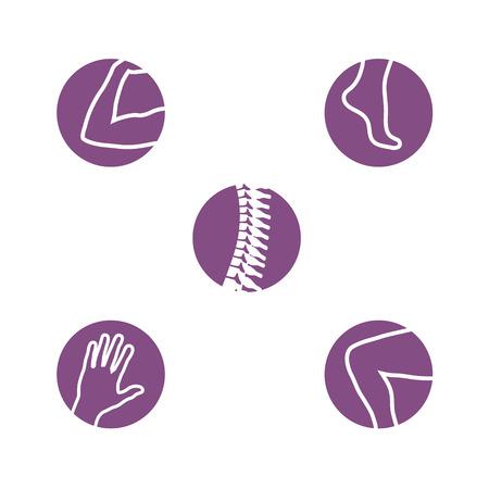 Set van orthopedie pictogrammen.
