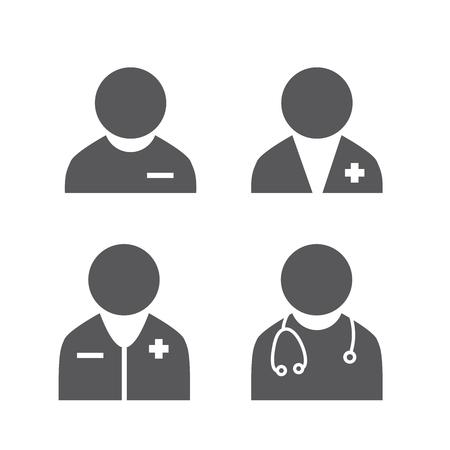 의사 아이콘을 설정합니다. 의료 공급자 아이콘입니다. 스톡 콘텐츠 - 94716762