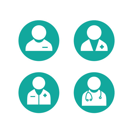 Doctor Icon Set. Healthcare provider set.