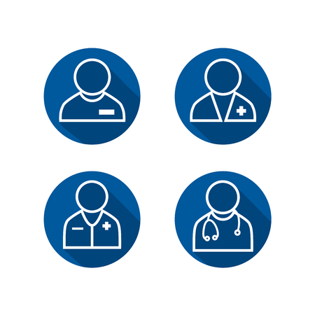 Doctor Icon Set. Healthcare provider icons.