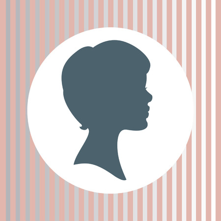 vector silhouette of woman face   Vector