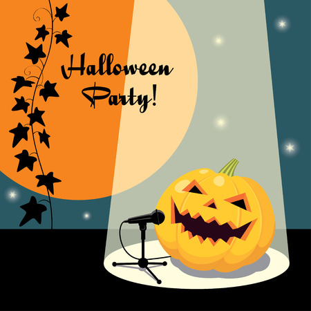 Invitation for Halloween party retro style
