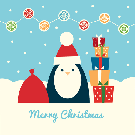 Retro styled greeting card. Text