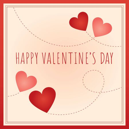 Abstract vector illustration. Greeting text Happy Valentine's Day.