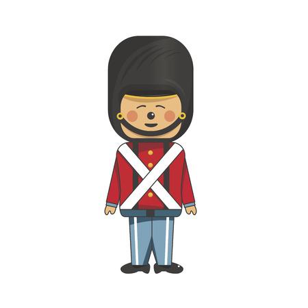 Happy soldier in red uniform Stock Vector - 23267363