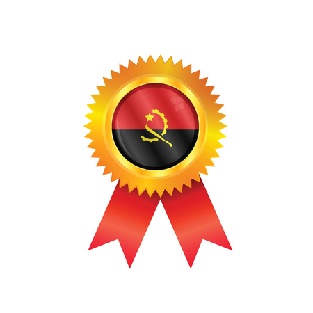 Gold medal with the national flag of Angola
