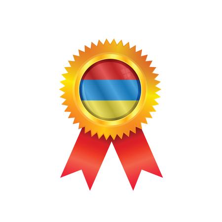 M�daille d'or avec le drapeau national de l'Arm�nie
