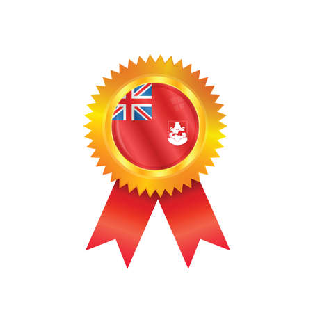 bermuda: Gold medal with the national flag of Bermuda Illustration
