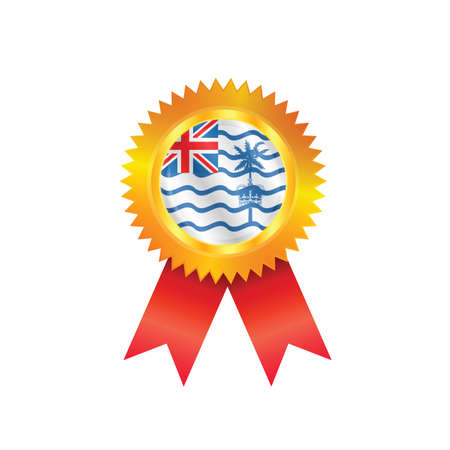 indian ocean: Gold medal with the national flag of British Indian Ocean