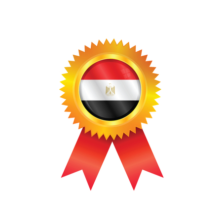 Gold medal with the national flag of Egypt