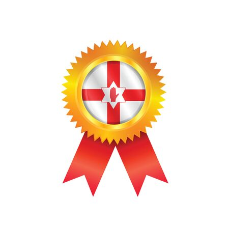 Gold medal with the national flag of Northern Ireland Stock Vector - 23324166