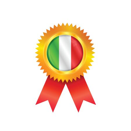 Gold medal with the national flag of Italy