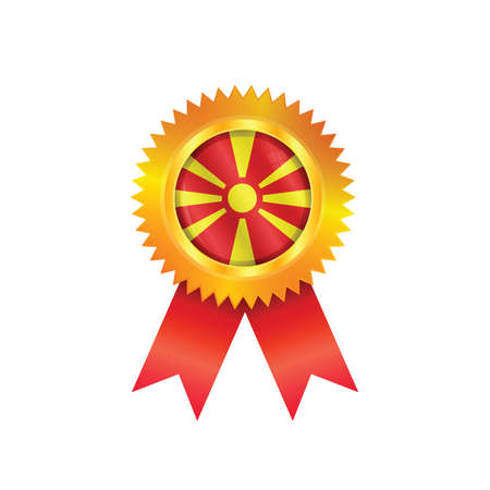 macedonia: Gold medal with the national flag of Macedonia