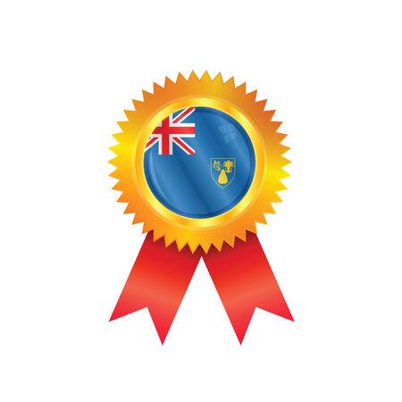 turks: Medalla de oro con la bandera nacional de las Islas Turcas y Caicos