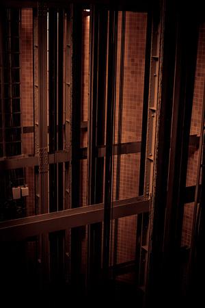 shaft: Old elevator shaft in a building