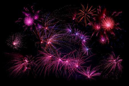 Vari�t� de feux d'artifice � la Saint-Sylvestre