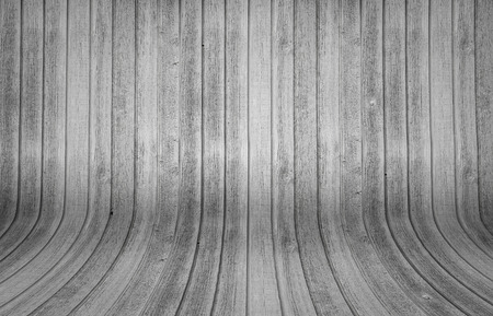 Wood background with verical and curved planks Stock Photo
