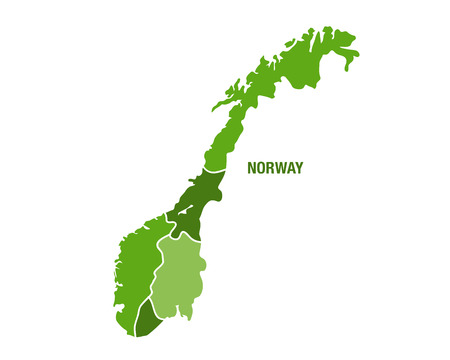 Vector illustration of the map of Norway Illustration