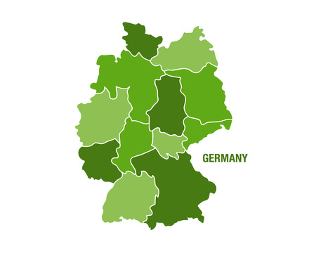 deutchland: Vector illustration of a green Germany map