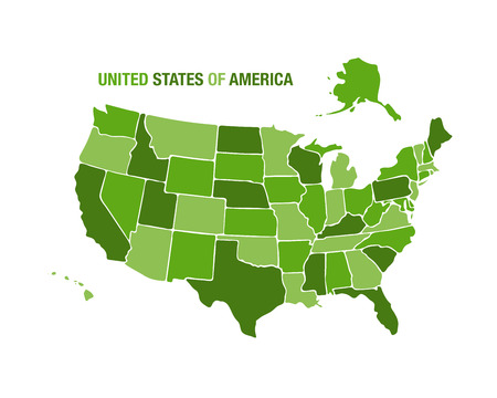 Vector illustration of a united states map