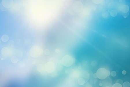 raffreddore: bokeh luci su sfondo blu freddo