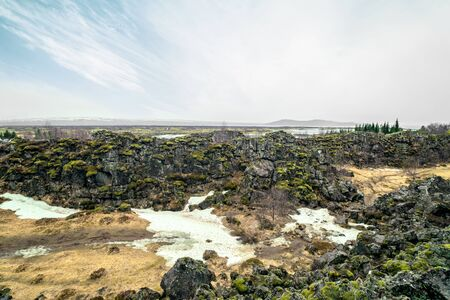 ice age: Ice age landscape from Thingvellir national park in Iceland