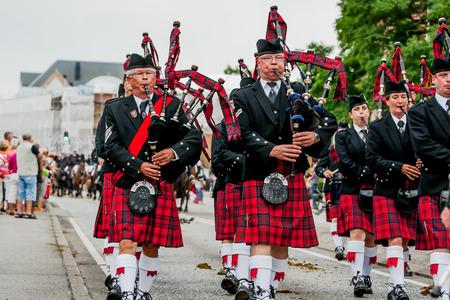 Festival en Escocia Foto de archivo - 56049984
