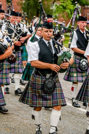 march band: festival performance at scotland
