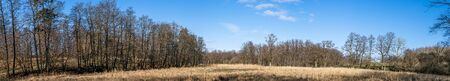 Wilderness landscape in a panorama scenery under a blue sky in the autumn