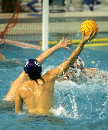 A waterpolo player action during a game photo