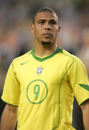 Brazilian player Ronaldo on portrait before the friendly match between Catalonia vs Brazil at Nou Camp Stadium in Barcelona, Spain. May 25, 2004.