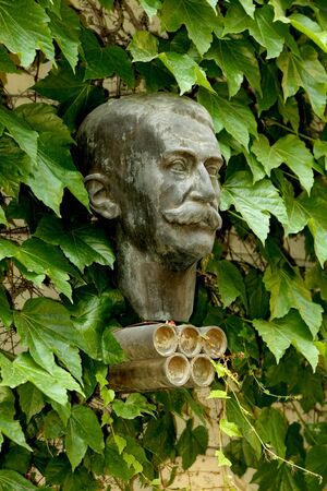 Bust Statue of modern Olympic Games father Baron Pierre de Coubertin, at the Museum Colet environments on May 27, 2010 in Barcelona, Spain Stock Photo - 7115077