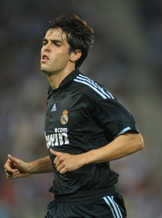 Brazilian player Kaka of Real Madrid in action during a Spanish League match against RCD Espanyol at the Estadi Cornella-El Prat on September 12, 2009 in Barcelona, Spain