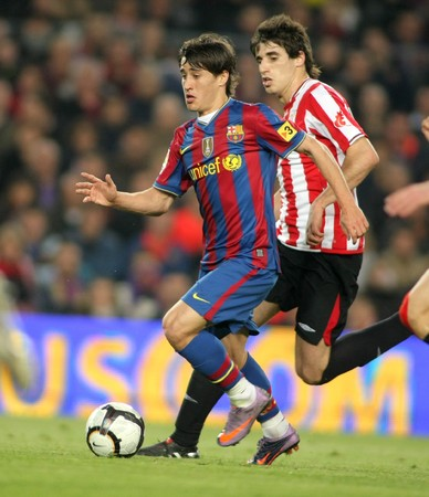 Bojan Krkic of Barcelona in action during a Spanish League match between FC Barcelona and Athletic Bilbao at the Nou Camp Stadium on April 3, 2010 in Barcelona, Spain