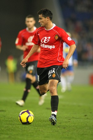 The Uruguayan player Chori Castro of Mallorca during the Spanish League match against Espanyol at the Estadi Cornella on January 24, 2010 in Barcelona, Spain