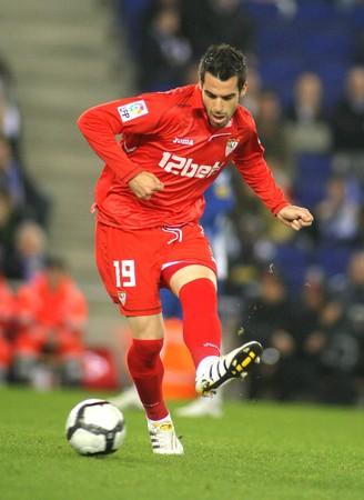 alvaro: Alvaro Negredo of Sevilla during a Spanish League match between Espanyol and Sevilla at the Estadi Cornella on March 20, 2010 in Barcelona, Spain